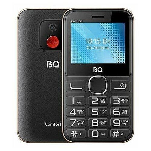 Мобильный телефон BQ 2301 Comfort Black/Gold мобильный телефон bq elegant 3595 серый