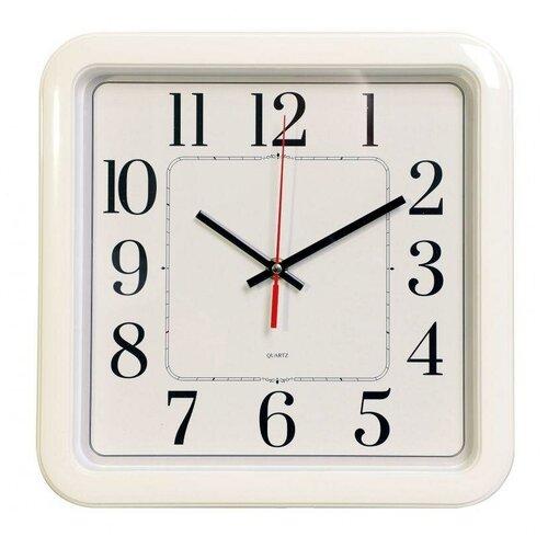 Часы настенные аналоговые Бюрократ WAIIC-S79P, плавный ход, белый