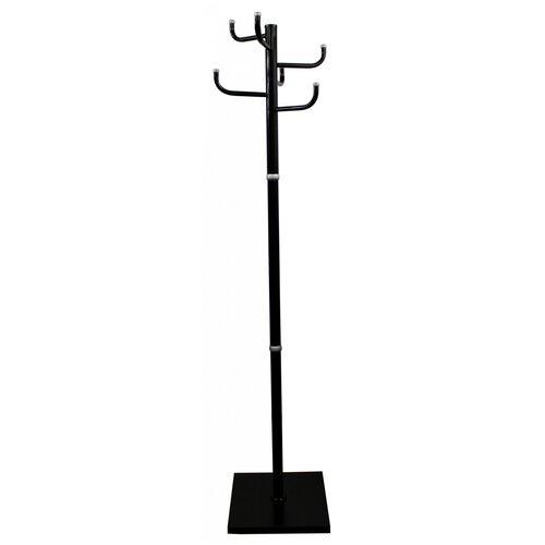 Вешалка напольная Бюрократ Мажор 1 мажор 1BLACK черный основание квадрат наконечники серебристый для верхней одежды метал. упак.1шт