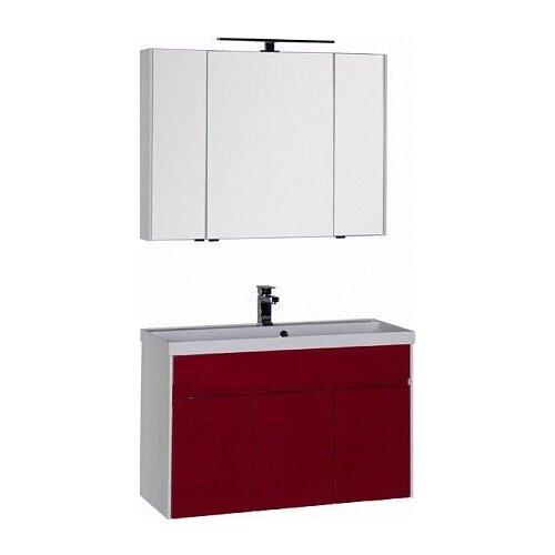 Aquanet Комплект мебели для ванной Aquanet Латина 100 бордо (00181089)