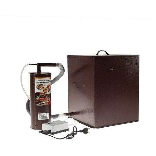 Коптильня холодного копчения Дым Дымыч 01М, дымогенератор, 32 л, коричневая 1249868 квин л горький дым костров
