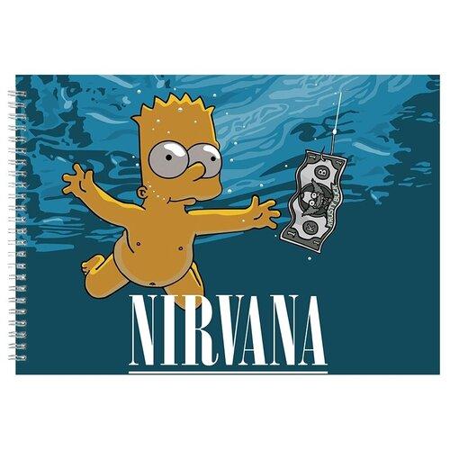 Альбом для рисования, скетчбук Simpsons NEVERMIND
