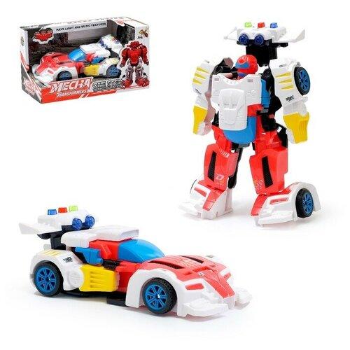 Купить Робот-трансформер Спорткар , световые и звуковые эффекты 3795354, Dade Toys, Роботы и трансформеры