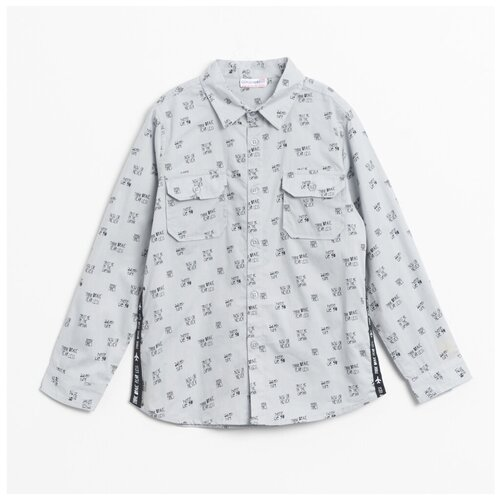 Рубашка COCCODRILLO размер 110, серый
