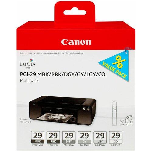 Фото - Набор картриджей Canon PGI-29 MBK/PBK/DGY/GY/LGY/CO (4868B018) набор картриджей canon pgi 29 mbk pbk dgy gy lgy co для pro 1 4868b018