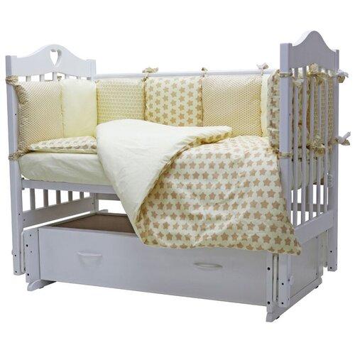 Купить Топотушки комплект в кроватку 12 месяцев (6 предметов) бежевый, Постельное белье и комплекты