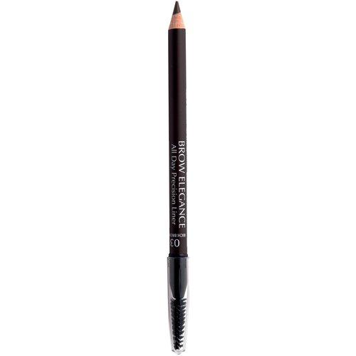 Seventeen карандаш Brow Elegance All Day Precision Liner, оттенок 03, Rich Brown карандаш для бровей brow elegance all day precision liner 1 8г no 02