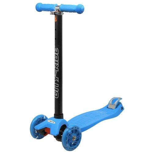 Самокат детский трехколесный ТМ CITY-RIDE, Дека: PP+нейлон, колеса PU 120/76, руль металлический телескопический, цвет голубой. Размеры: 55 х 22 х 86 см