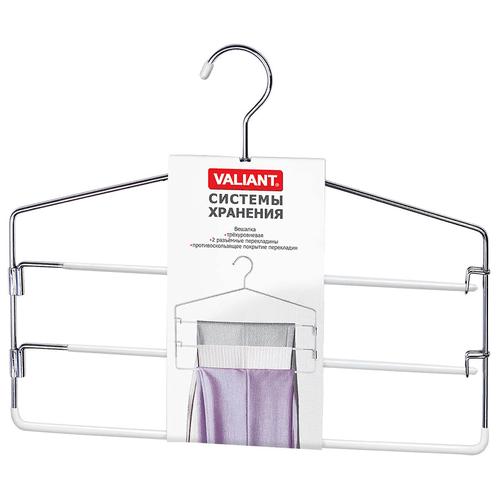 Вешалка Valiant Металлическая трехуровневая WH-8183015 white