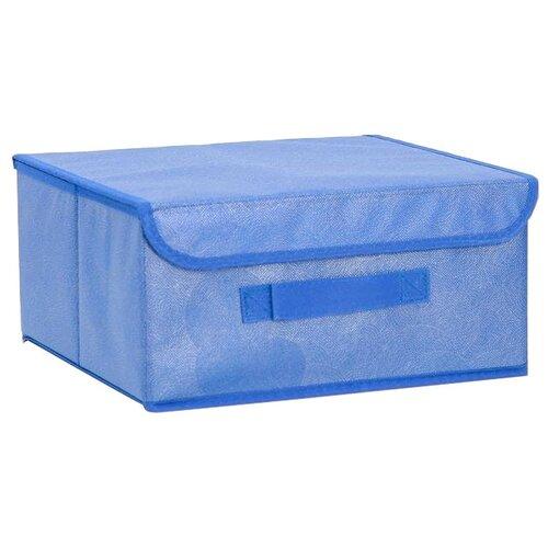 textura короб для хранения с крышкой 28 х 30 х 15 см home Доляна Короб для хранения с крышкой 30 х 28 х 15 см фабьен
