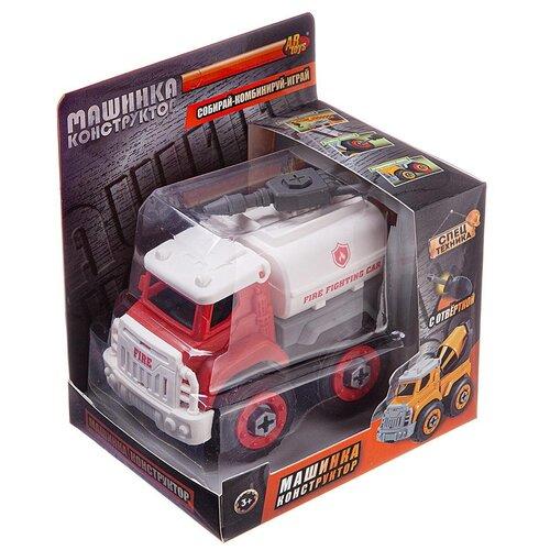 Конструктор ABtoys Городские службы. C-00433 Пожарная машина-цистерна с отверткой