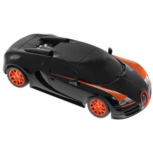 Фото - Гоночная машина Rastar Bugatti Veyron Grand Sport Vitesse (53900) 1:18 черный гоночная машина rastar bugatti veyron grand sport vitesse 53900 1 18 черный