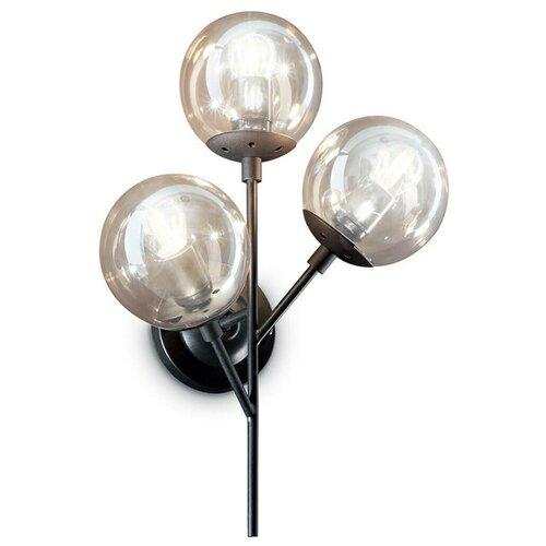 Настенный светильник IDEAL LUX Kepler AP3, E27, 180 Вт настенный светильник ideal lux neve ap3 cromo