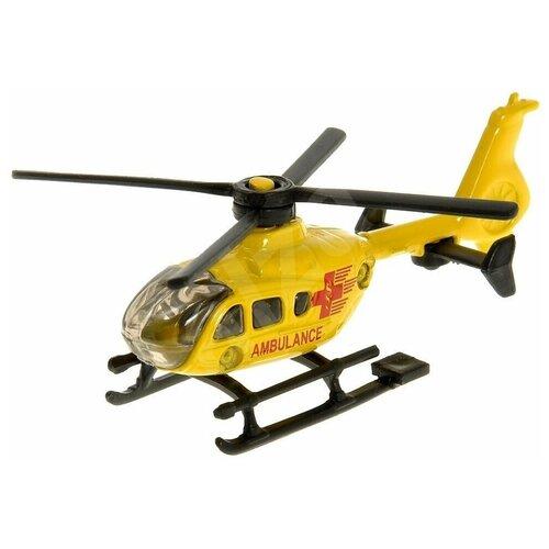 трактор siku с прицепом кузовом 1858 1 87 22 6 см желтый Вертолет Siku 0856 1:87, 8.1 см, желтый
