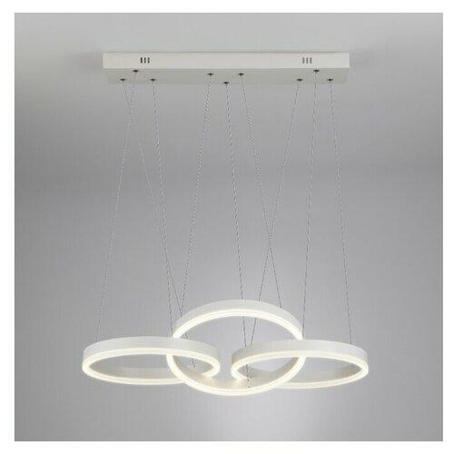 Люстра светодиодная Eurosvet Integro 90070/3 белый, 44 Вт, цвет арматуры: хром