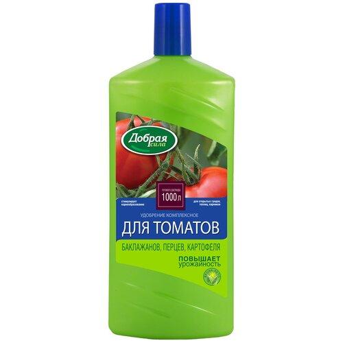 Фото - Удобрение Добрая сила для томатов, баклажанов, перца, картофеля, 1 л почвогрунт для томатов перца и баклажанов богатырь 20л