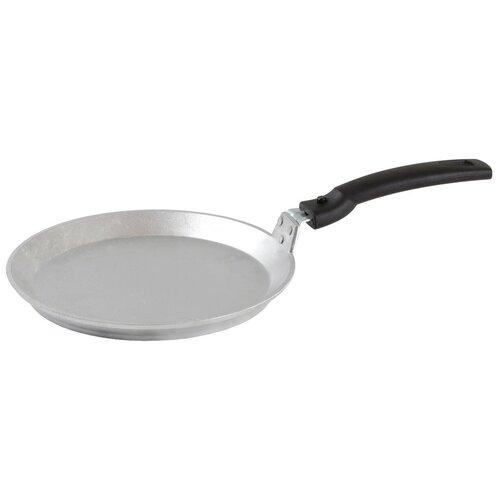 Сковорода блинная Kukmara сб220, 22 см, съемная ручка, серебристый сковорода d 24 см kukmara кофейный мрамор смки240а