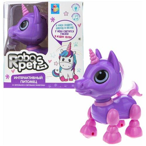 Фото - Робот 1 TOY Robo Pets Робо-единорог mini фиолетовый робот 1 toy robo pets котёнок белый голубой