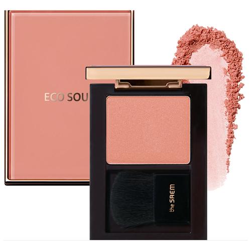 The Saem Румяна Eco Soul Luxe Blusher PK01 Rose Signature the saem мист eco soul luminous