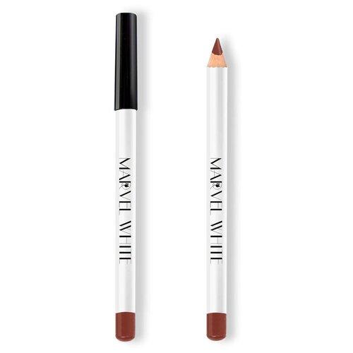 Marvel Cosmetics White Карандаш для губ 423 BRUSSEL (Молочный Шоколад) marvel cosmetics карандаш для губ 337 rose quartz