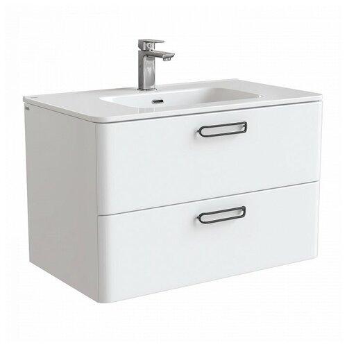 Фото - Тумба для ванной комнаты с раковиной IDDIS Brick, ШхГхВ: 80х47х50 см, цвет: белый тумба для ванной комнаты с раковиной am pm like напольная шхгхв 80х45х85 см цвет белый глянец