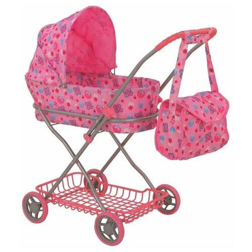 Коляска-люлька Buggy Boom Mixy (8019) розовый/ягоды, Коляски для кукол  - купить со скидкой
