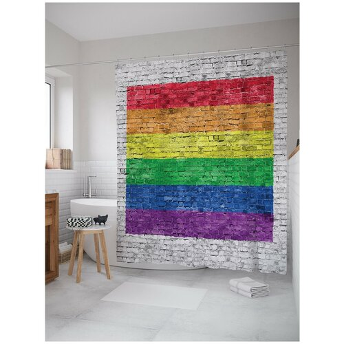 Фото - Штора для ванной JoyArty Уличная радуга 180х200 (sc-5146) штора для ванной joyarty подарки для семьи 180х200 sc 78656