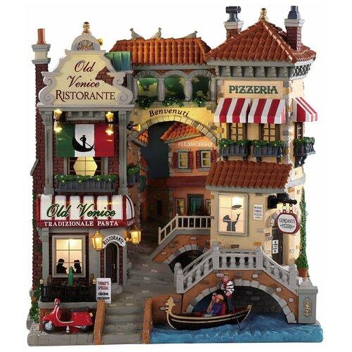 фигурка lemax отель яркий шип 20 х 20 2 х 15 7 см коричневый красный Фигурка LEMAX фасад Маленькая Венеция 28 х 25 х 13 см бежевый/красный