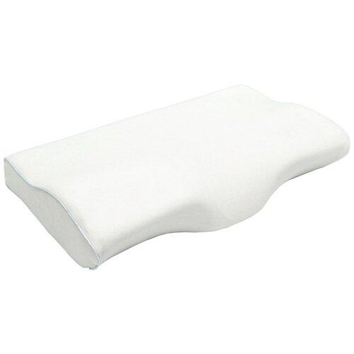 Подушка с выемкой под шею AMARO HOME Memory Foam Neck 58х33х10,5/6,5 см, белый