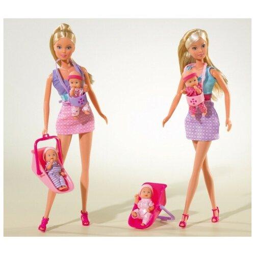 Фото - Набор кукол Steffi Love Штеффи с детьми, 29 см, 5730211029 набор кукол steffi love штеффи с новорожденным 29 см 5730861