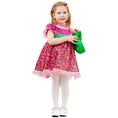 Купить Костюм пуговка Вишенка (2025 к-18), розовый, размер 116, Карнавальные костюмы