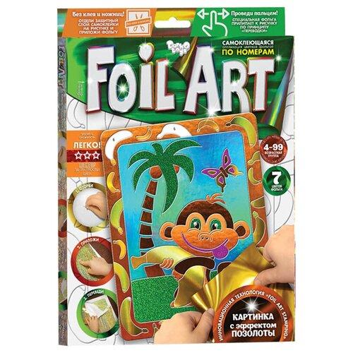 Danko Toys Аппликация цветной фольгой Foil Art Обезьяна (FAR-01-05) danko toys аппликация цветной фольгой foil art заяц far 01 07