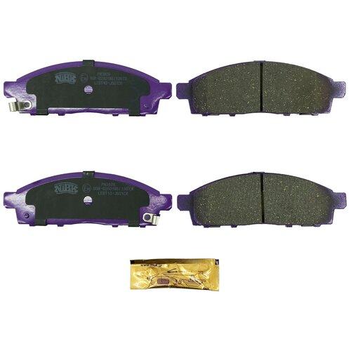 Фото - Дисковые тормозные колодки передние NIBK PN3809 для Nissan NV200, Mitsubishi L200, Mitsubishi Pajero Sport (4 шт.) дисковые тормозные колодки передние trw gdb3435 для mitsubishi pajero sport mitsubishi montero mitsubishi l200 4 шт