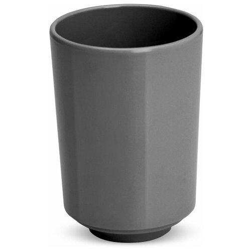 Фото - Стакан для зубных щеток Umbra Step, темно-серый стакан для зубных щеток touch 10х10х8 см серый 023271 918 umbra