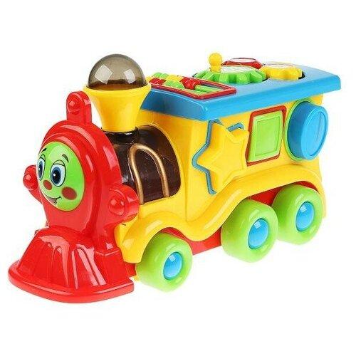 Купить Развивающая игрушка Умка Паровозик из Ромашково, желтый/красный, Развивающие игрушки
