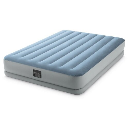 Фото - Надувная кровать INTEX 64168 RAISED COMFORT, (встроенный насос 220В), 152х203х36см кровать intex 64124 pillow rest raised bed queen встроенный насос 220в