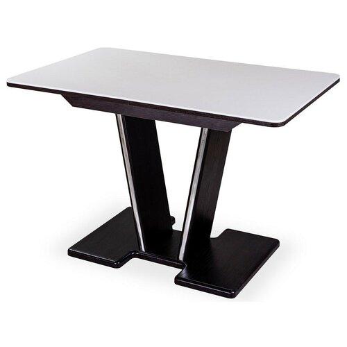 Стол кухонный Домотека Румба ПР КМ 03, раскладной, ДхШ: 110 х 70 см, длина в разложенном виде: 147 см, 04/ВН белый/венге 03 ВН (ПР) венге