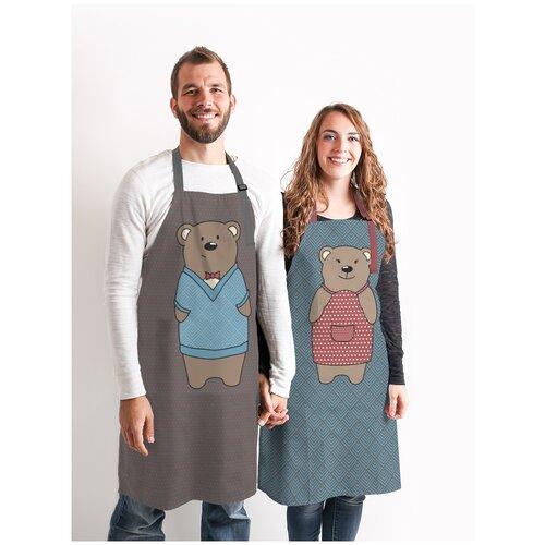 Комплект фартуки парные Медведь и Медведица sfer.tex 1766436