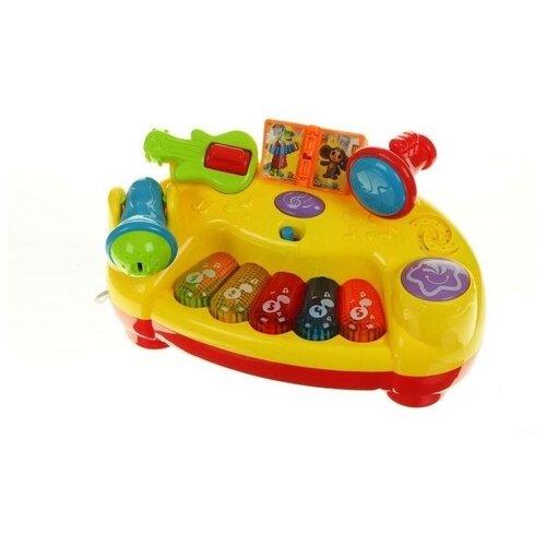 развивающая игрушка умка обучающее пианино м дружинина разноцветный Интерактивная развивающая игрушка Умка Интерактивное пианино, мультиколор