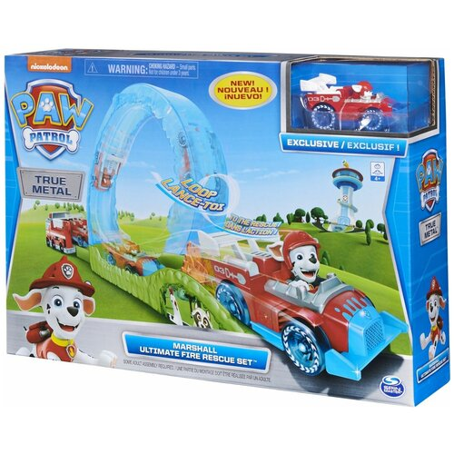 Трек Spin Master Paw Patrol True Metal Ultimate Fire Rescue Set 6058363