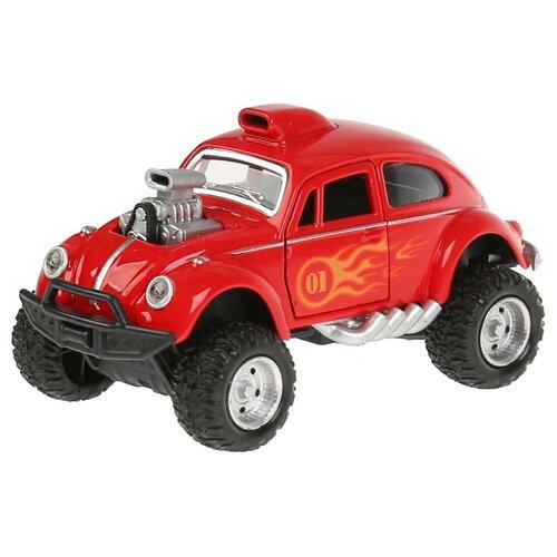 Легковой автомобиль ТЕХНОПАРК Хот-род (FY618-SL-RD), 12 см, красный
