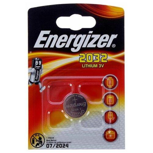Фото - Батарейка Energizer CR2032, 1 шт. батарейка energizer max plus aa 4 шт