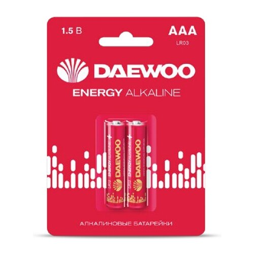 Фото - Батарейка AAA LR03 1,5V alkaline BL-2шт DAEWOO ENERGY (5029873) батарейка aaa ergolux lr03 alkaline bl 4 lr03 bl 4
