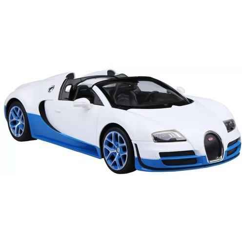 Фото - Легковой автомобиль Rastar Bugatti Grand Sport Vitesse (70400) 1:14 33 см белый/синий гоночная машина rastar bugatti veyron grand sport vitesse 53900 1 18 черный