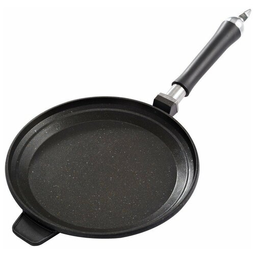 Фото - Сковорода блинная GIPFEL Focus 1463, 32 см, съемная ручка, черный сковорода gipfel batista 2682 24 см съемная ручка серый