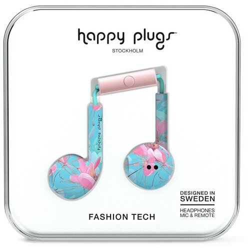Наушники Happy Plugs Earbud Plus, botanica exotica