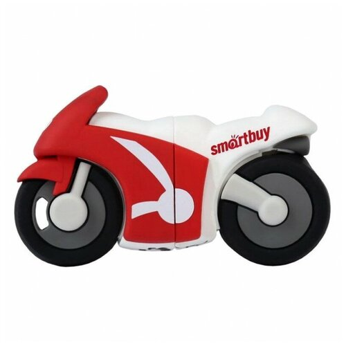 Фото - Флешка SmartBuy Wild series Motobike 16 GB, 1 шт., красный/белый флешка smartbuy ny series snow 16 gb красный белый