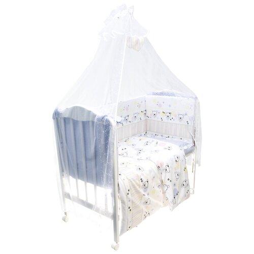 Купить Сонный Гномик комплект Конфетти (7 предметов) нежно-голубой, Постельное белье и комплекты