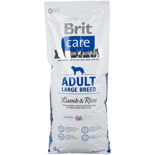 Сухой корм для собак Brit Care, ягненок, с рисом 12 кг (для крупных пород) сухой корм для собак barking heads ягненок 12 кг для крупных пород
