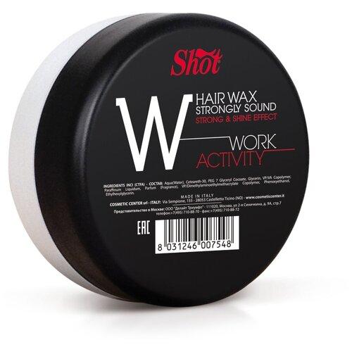 Shot Воск Work Activity Hair Wax Strongly Shine Effect, сильная фиксация, 100 мл